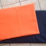 orange und leder